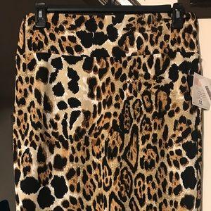 LuLaRoe XL Leopard Print Cassie Skirt NWT